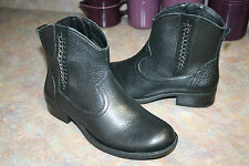 NEW Nurture Willa Chain-Trimmed Western Ankle Boots New BLACK 7.5 M WomenS $140