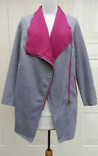K-Zell Two Tone Pink & Grey Asymmetric Zip Jacket SIZE 12/14