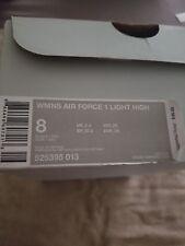 NIKE AIR FORCE 1 LIGHT HIGH TOP WHITE BLACK SHOES WOMEN'S