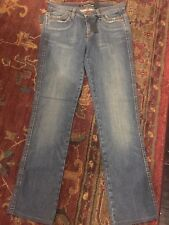NWT DKNY Women's Denim Jeans Dark Distressed Sz 4L 'So Low Lita' Straight Leg