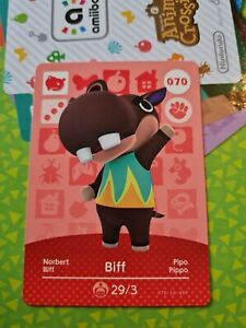 Animal Crossing Amiibo Biff 070