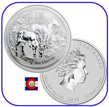 2014 Lunar Horse 10 oz Silver, Series II, Australia
