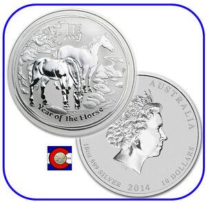 2014 Lunar Australian Horse 10 oz Silver Coin, Series II, Perth Mint Australia