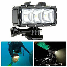 FlashLight Lamp Underwater Diving Waterproof LED Flash Light For GoPro Hero 4/3