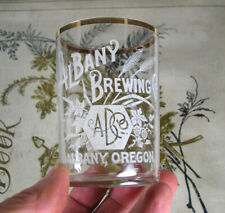 New listing fancy! Pre-Pro Albany Oregon Brewing Co. w/ monogram Beer Glass scarce!