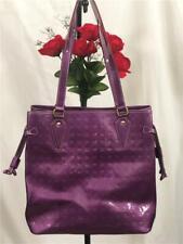 NWOT Arcadia Purple Genuine Patent Leather Classic Embossed Shoulder Bag