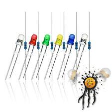 3mm LED Sortiment 3.3V 5V 6V 9V 12V red blue white yellow green purple 12-Teile