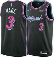 Dwyane Wade Miami Heat Autographed Black Nike Vice Nights Swingman Jersey