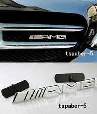 NEW Metal Chrome AMG Grill Badge Front Emblem Fit CLK CLS SLK C E S CL SL ML