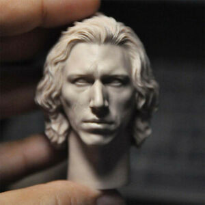 "1/6 Scale The Rise of Skywalke Kylo Ren Head Sculpt Unpainted Fit 12"" Figure"