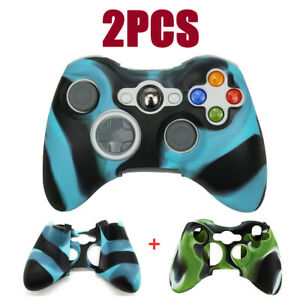 2PCS For Microsoft Xbox 360 Controller Soft Case Silicone Protective Skin Cover