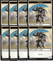 8x Knight TOKEN (001) - Aryel, Knight of Windgrace NM - Dominaria Card