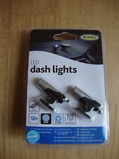RING LED DASH LIGHT KIT - TWIN PACK BLUE LED'S INCLUDES DC PLUG AND STICKY PADS