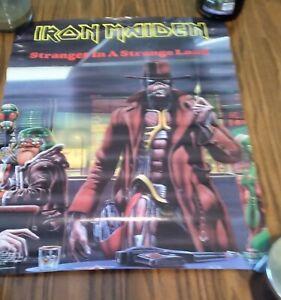 Iron Maiden Vintage Stranger In A Strange Land Derek Riggs Poster 1986