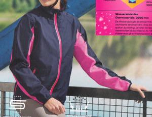 Damen Regenjacke Jacke Fahrrad Regenschutz Wasserabweisend