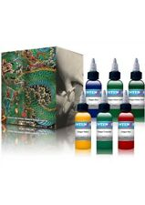 Intenze Tattoo Ink Japaneze Dragon 6 Color 1 Ounce Professional Set