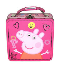 NWT Peppa Pig Pink Metal Lunch Box for Little Girls Offical Licensed Product