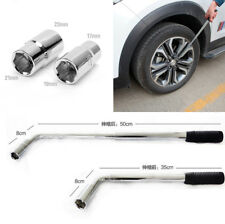 Telescoping Wheel Tyre Nut Wrench Spanner Car Repair Tool Kits with 2x Sockets