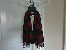 "Scarf ""Next""Red Navy Black Mix  Color Length: 1.60 m  New With Tags"