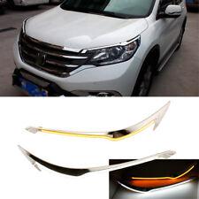 2x Led Daytime Running Light Eyebrow Trim DRL Switchback for Honda CR-V 2012-14