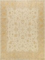 Muted Floral Traditional Peshawar Oriental Area Rug Hand-knotted 8'x10' Carpet