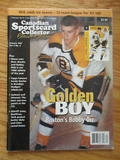 Canadian Sportscard Collector Bobby Orr Golden Boy (January 1996) Magazine
