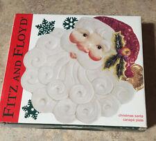 Fritz And Floyd Vintage Christmas Santa Claus Canape Plate Nib