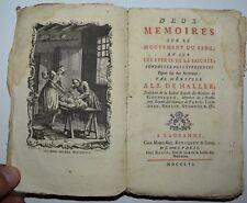 CIRCOLAZIONE DEL SANGUE - figur. 1756 - PRIMA EDIZIONE - MEDICINA - HALLER