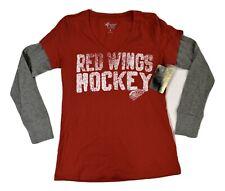 G-III 4 Her Womens NHL Detroit Red Wings Hockey Shirt New S, M, L, XL