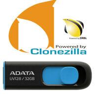 Clonezilla 32 Gb Usb 64 Bt Live Linux Imaging Backup Copy Restore Clone Bootable