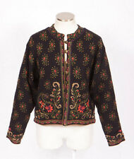 ICELANDIC DESIGN Floral Wool Paisley Knit Fully Lined Cardigan Sweater Jacket M