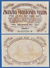 Círculo municipio Palatinado 20 millones 1923 casi ksf Bay 252b