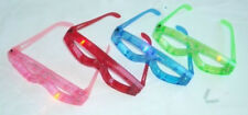12 pc Blinking Eyeglasses Multicolors LED Light Up Flashing Novelty Eye Wear Toy