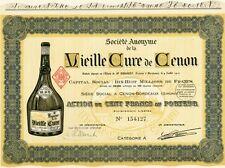 """""""VIEILLE CURE de CENON"""" Action originale entoilée de 1910 Litho  37x27cm"""
