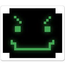 "Cyber Smile Evil Black Green car bumper sticker decal 5"" x 4"""