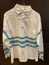 Vintage Mens 100% Cotton Rugby Shirt - 1980s - Size L/XL
