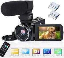 Camcorder Video Kamera FHD 1080p 26mp 30fps 3''lcd Touchscreen Wifi IR Nacht VI