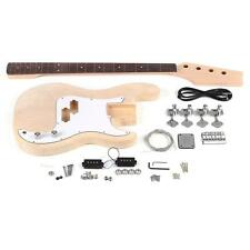 PB Unfinished DIY Electric Bass Guitar Kit Basswood Body Maple Neck New J7M7