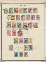 finland early stamps  on album page ref r11429