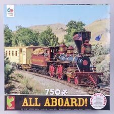 Ceaco 750 Piece Jigsaw Puzzle Railroad Train Steam Engine w/ Poster NEW