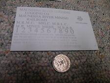 Herald King decals HO Maunesha River Logging Mining Co  silver  ZZ296