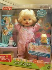 Fisher Price Little Mommy Interactive Walk and Giggle Doll. New in Box.
