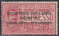Italy Regno - 1917 Posta Aerea (Air Mail) n.1 cv 90$  MNH**