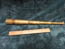 Vintage Ross London Brass Nautical Telescope