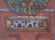 Peek A Boo Westie Chien Counted Cross Stitch Kit Christmas Pollyanna Pickering