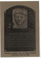 TOMMY McCARTHY Hall of Fame METALLIC Plaque Card - Boston Red Sox
