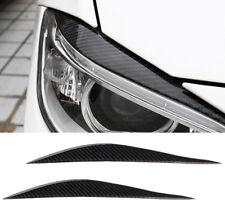 Carbon Fiber Headlight Eyebrows Eye Lid Sticker For BMW 3 Series F30 2013 - 2017