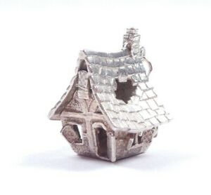 Rare Vintage Silver Nuvo Charm Haunted House Opens 925 Sterling 6.6g