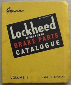 LOCKHEED HYDRAULIC BRAKES Comprehensive Spare Parts Catalogue Vol 1 1935 to 1947
