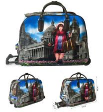 Women's Wheeled Trolley Luggage Weekend Historic Holidays Travel Holdall Bag